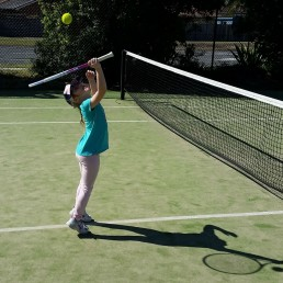 child tennis player and future champion for Q Wunder